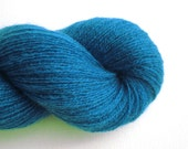 Lace Weight Recycled Cashmere Yarn, Peacock Blue, 490 Yards, Lot 070116