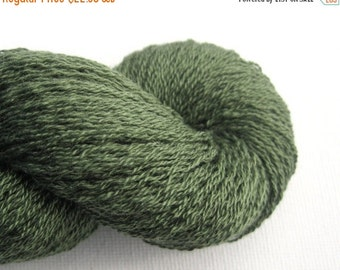 CLEARANCE Lace Weight Silk Cashmere Recycled Yarn, Fern Green, 1060 yards