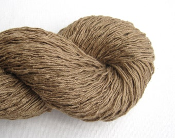 Pure Linen Recycled Yarn, Light Sport Weight, Tan, Lot 060316