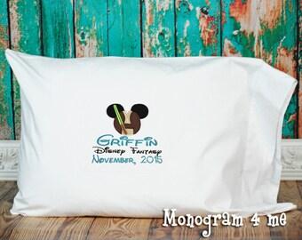 Jedi autograph Cruise Pillowcase,Luke Mouse Autograph Cruise Pillow, Character Pillow, Birthday Gift, Star Wars inspired