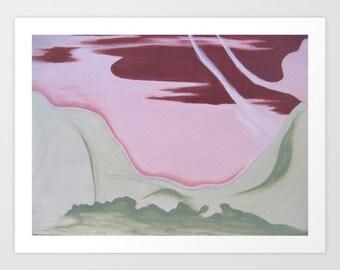 "Inner Landscape 17"" x 13"" giclee art print medium abstract painting"
