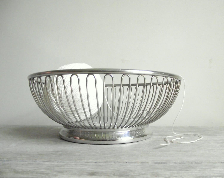 Alfra alessi basket stainless steel basket bowl bread - Alessi fruit basket ...
