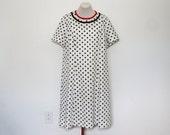 vintage 1960's polka dot dress | 1x/2x short sleeve dress