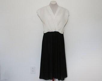 vintage surplice dress | large/x-large sleeveless dress
