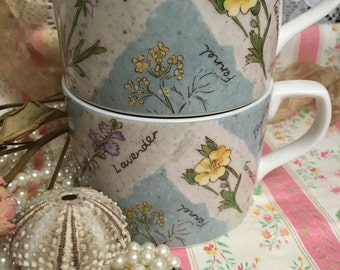Royal Doulton Everyday~Pair Mugs ~WILD FLOWERS~