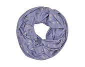 INFINITY SCARF - Screen Printed - Confetti on Periwinkle