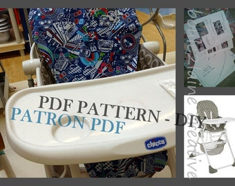 PDF Pattern High Chair Cover / Patron Et Tuto PDF Housse Chaise Haute  Chicco Polly 2