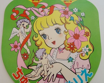 Japanese Manga Vintage Big Eyes Girls Coloring Book. 80s. Fashion