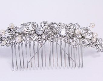 Pearl hair accessories,Crystal Bridal comb,Wedding hair clip,Bridal headpiece,Wedding hair accessories,Bridal headpiece,Wedding comb,Bridal