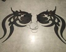 Cosplay wings, Tribal wings, tattoo, black wings, Costume wings, foam wings, ooak
