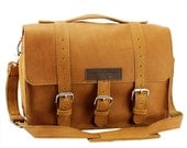 "14"" Grizzly Sonoma Buckhorn Leather Camera Bag - 14-BUC-GZ-LCAM"