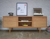 Kasse Credenza / TV Stand - Solid White Oak - Clear Finish