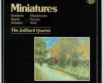 The Julliard Quartet Miniatures, Compositions by Gershwin, Haydn, Schubert, Mendelssohn, Puccini, Wolf, Vintage Vinyl Record Album CBS LP