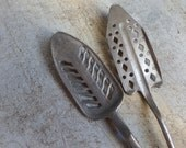 Antique 1900s french absinthe spoons - differents patterns