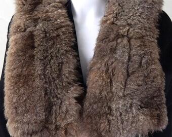 Original Vintage 1970s Faux Fur Stole/Collar