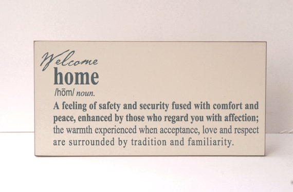 Items Similar To Welcome Wood Sign Welcome Home Home