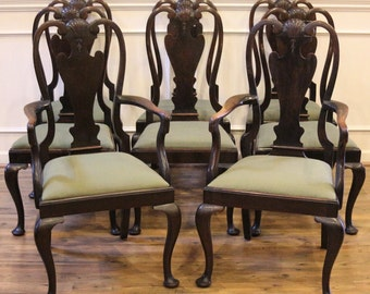 Antique Dining Room Chairs dining chairs | etsy