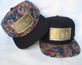 ROYALTY KING metal paisley hat paisley snapback paisley hats paisley snapbacks ny/slay/topshelf or customize