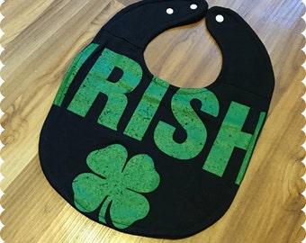 Irish Baby Bib, Recycled T-Shirt Bib, St. Patrick's Day, Irish, Baby Bib Baby Shower Gift