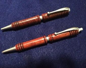 Pen and Pencil Set Padauk Wood