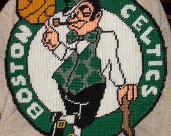 Boston Celtics Logo Plastic Canvas Pattern