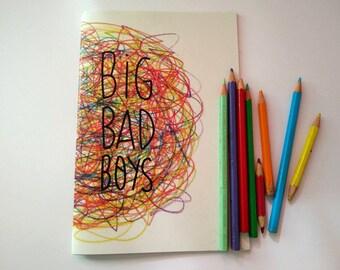 big bag boys coloring book zine illustration