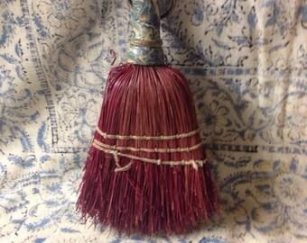 Vintage Hand Broom Whisk Broom kitchen decor sweeper