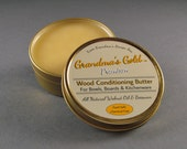 Walnut Oil and Beeswax Wood Conditioner for Cutting Boards, Bowls, Kitchenware, Butcher Blocks / Grandma's Gold Premium