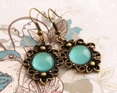 Mint - Victorian Earrings