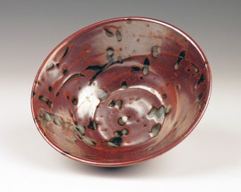 porcelain bowl with iron-red glaze