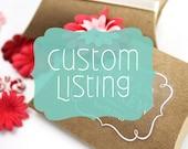Custom Sticker Listing for Carol