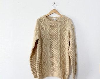 SALE vintage fisherman's sweater, shetland wool