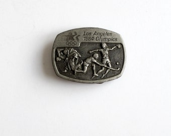 1984 Olympics buckle, pewter belt buckle, limited edition