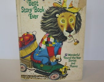 Richard Scarry's Best Story Book Ever 1968 Vintage Childrens Book