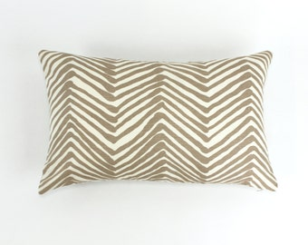 ON SALE Quadrille Alan Campbell Zig Zag Pillow (Both Sides) 14 X 22