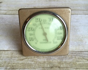 Room Thermometer - Temperature Gauge - 1950's Tel-Tru - Made in USA
