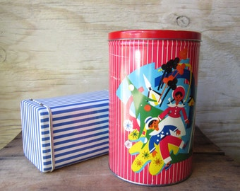 Two Large Whimsical Tins Instant Collection Danish Tins