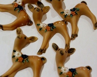 Deer Crafting Embellishment - Pack of 5