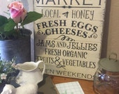 Farmer's Market sign shabby chic Farmhouse signs