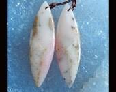 New, Pink Opal Gemstone Earring Bead,44x12x5mm,6.03g