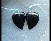 Obsidian Heart Earring Bead,22x17x5mm,4.77g