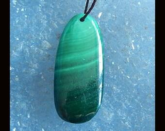 New,Malachite Pendant Bead,28x12x5mm,4.5g