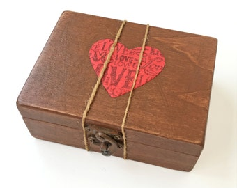 Wood anniversary gift idea, Wedding vow keepsake, Personalized gift for couple, vow renewal gift, Wooden keepsake box