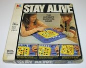 Vintage 1978 STAY ALIVE Game Milton Bradley - Complete with Marbles - The Ultimate Survival Game