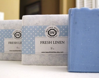 Fresh Linen Soap | Artisan Soap | Vegan Soap | Natural Soap | Cold Process Soap