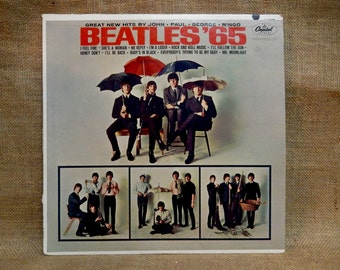 The BEATLES - Beatles '65 - 1964 Vintage Vinyl Record Album