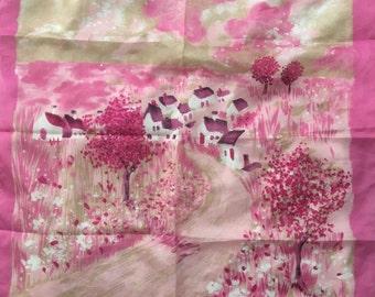 Vintage Scarf Cottages in Pink