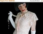 DRESS SALE 1930s Evening Dress - Vintage Pink Lace with Matching 30s Bolero Jacket