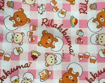 Rilakkuma fabric hafl yard Japanese fabric