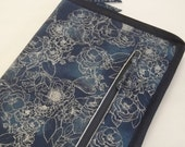 Double  Tips Standard case in Winter Frost Floral Outline for circulars and tips